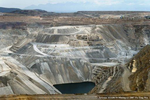 ASARCO, az egyik legnagyobb bányaipari cég (USA, Arizona)