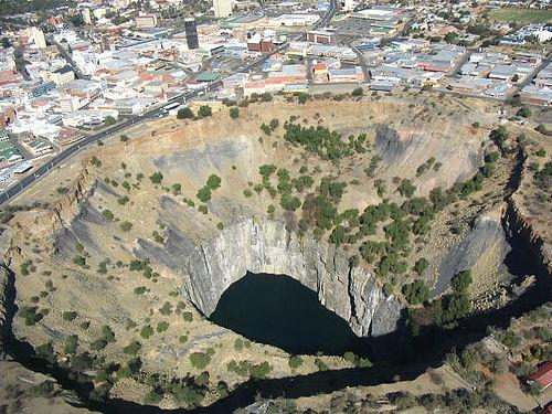 Dél-Afrika, felhagyott gyémántbánya