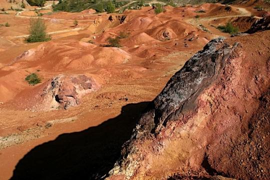 A gánti bauxit bánya napjainkban
